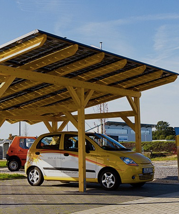 Solarmodule auf Carport zum besten Preis