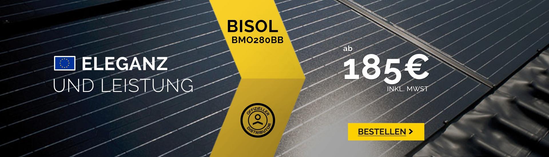 Solarmodule Bisol BMO 280 schwarz